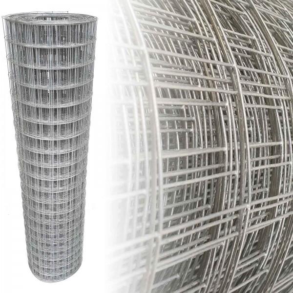 Gartenzaun Verzinkt 100 cm 10 m (50x50 mm) 1,25mm