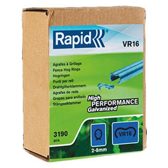 3190 Stück Rapid VR16 Klammern verzinkt für Zaunklammerzange, 2-8mm