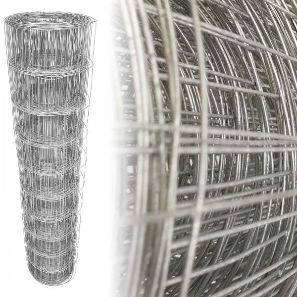 Gartenzaun Verzinkt 100cm 10m (100x100 mm) 1,25mm
