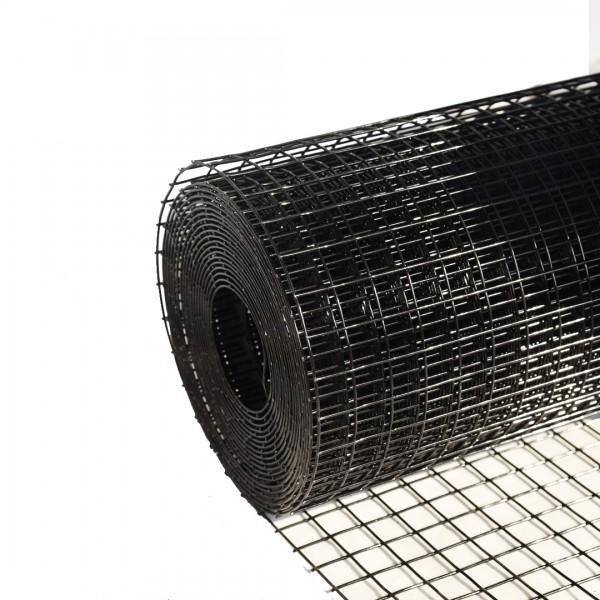 Volierendraht Edelstahl Schwarz 25 x 25mm 10M 100cm 2,00mm
