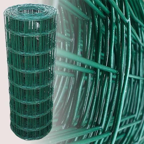 Gartenzaun Grün 80cm 25m 7,5x10cm 2,10mm