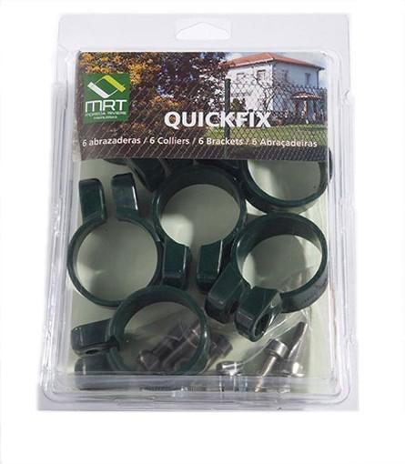 Klemme (6 Stück) für Quickfix Zaunpfosten grün