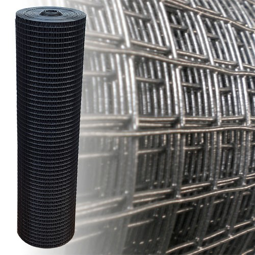 Volierendraht schwarz 100 cm 10 m 25x25 mm 1,45 mm