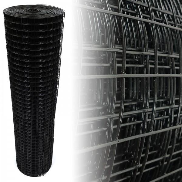 Volierendraht Schwarz 25x25 12,5m 195cm 1.45mm