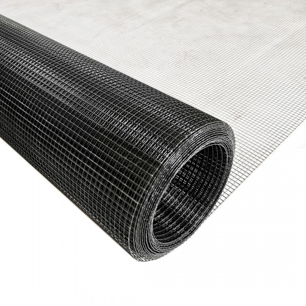 Volierendraht Edelstahl Schwarz 6 x 6mm 25m 100cm 0,70mm