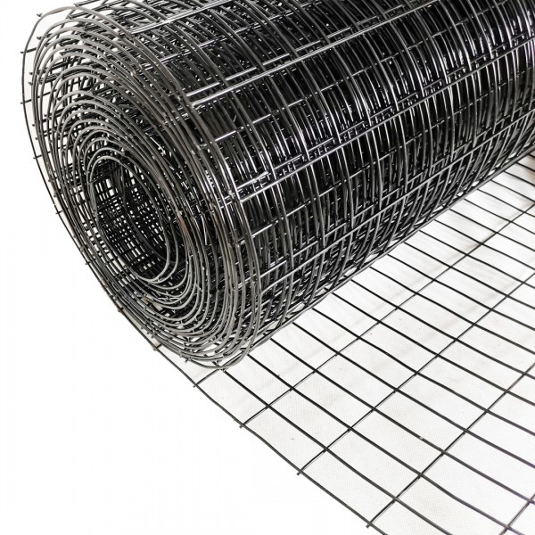 Volierendraht Edelstahl Schwarz 25 x 25mm 5M 100cm 1,50mm