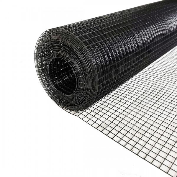 Volierendraht Edelstahl Schwarz 100cm 10m 12x12mm 1,00mm