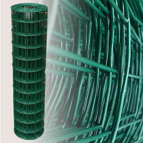 Gartenzaun Grün 120cm 20m 10x10cm 2,10mm