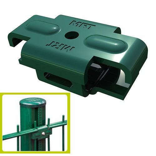 Metallclips Quickfix grün 4er Packung für Quickfix Zaunpfosten