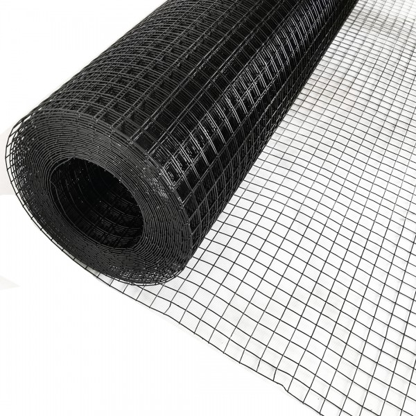 Volierendraht Edelstahl Schwarz 12 x 12mm 25m 100cm 0,80mm