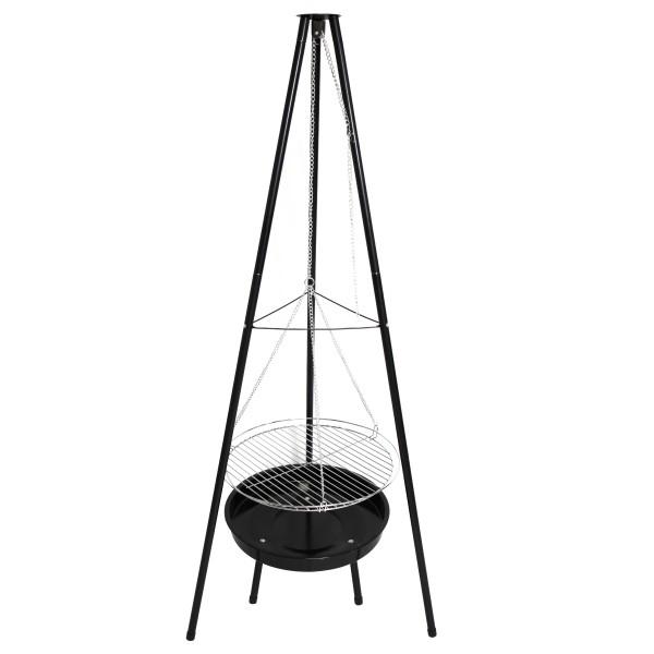 Multi-Grill Schwenkgrill BBQ Dreibein 160cm 50cm inkl. Grillrost