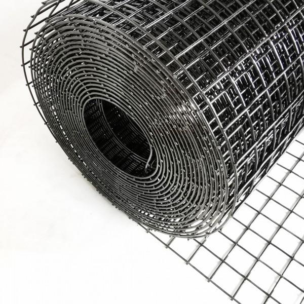 Volierendraht Edelstahl Schwarz 25 x 25mm 25M 100cm 1,00mm