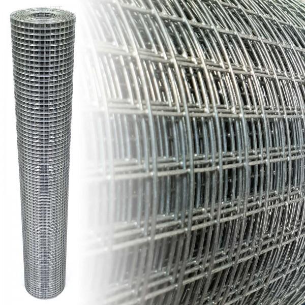 Volierendraht verzinkt 50 cm 10 m 12x12 mm 1 mm