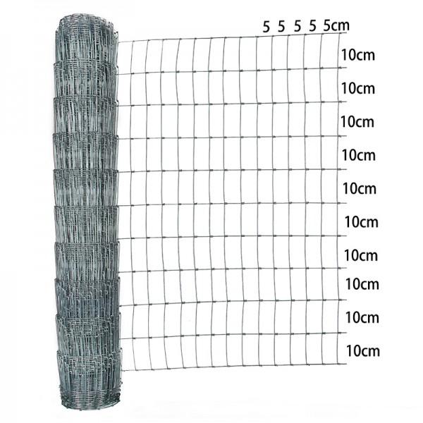Wildzaun 100cm 25m Verzinkt 2,0/1,6mm 100/11/5