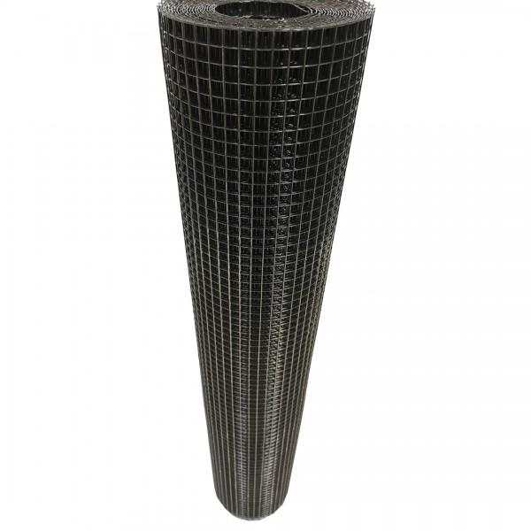 Volierendraht Edelstahl Schwarz 12 x 12mm 5M 100cm 1,20mm