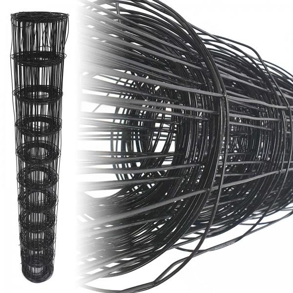 Gartenzaun Schwarz 100x100 10m 100cm 1,65mm