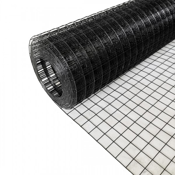 Volierendraht Edelstahl Schwarz 25 x 25mm 5M 100cm 1,00mm