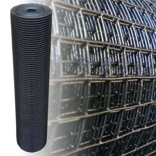 Volierendraht schwarz 150 cm 12,5 m 12x12 mm 1,2 mm