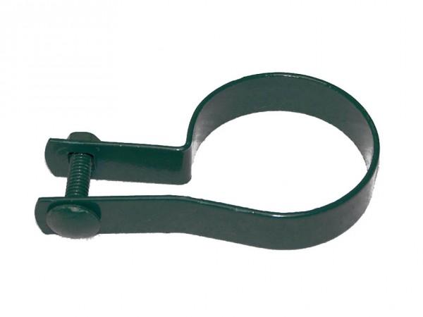 Schelle für Streben grün 60 mm für Zaunpfosten oder Tor Strebenschelle