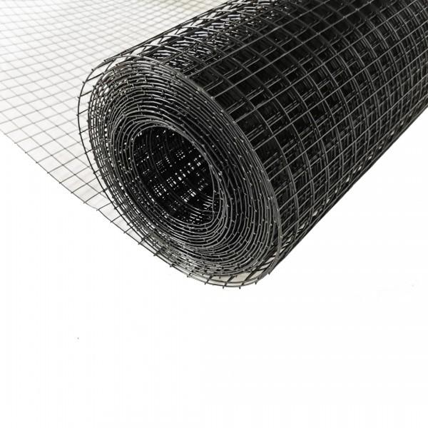 Volierendraht Edelstahl Schwarz 19 x 19mm 25M 100cm 1,20mm