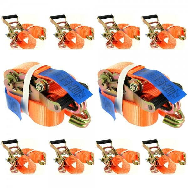 Spanngurt 2-teilig 35mm 3T mit Ratsche & Spitzhaken