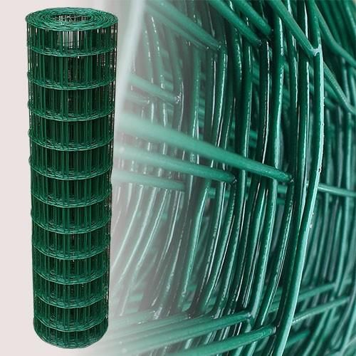 Gartenzaun Grün 120cm 25m 7,5x10 cm 2,10mm