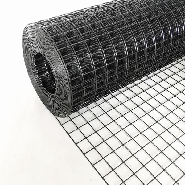 Volierendraht Edelstahl Schwarz 100cm 10m 25x25mm 1,50mm