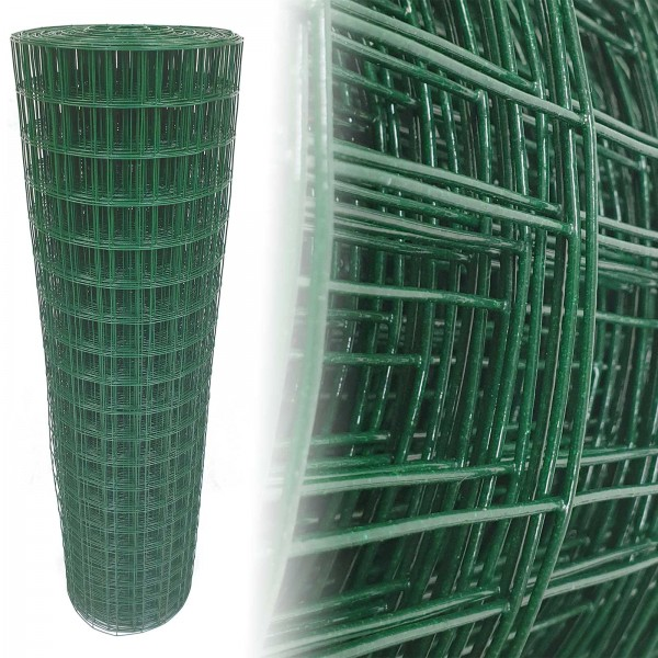Gartenzaun Grün 50x50 10m 100cm 1,65mm