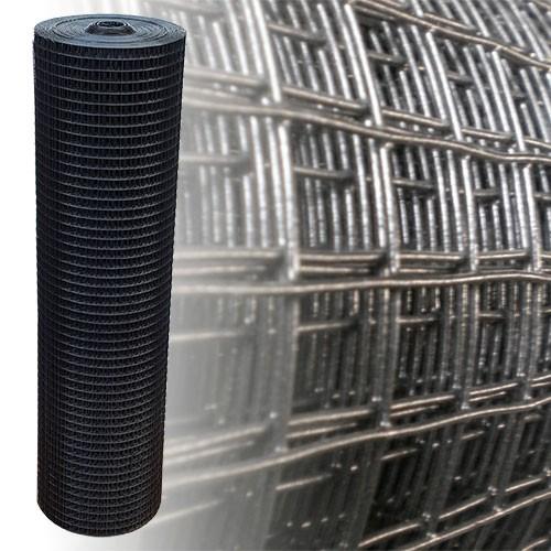 Volierendraht Schwarz 25x25 12,5m 150cm 1.45mm