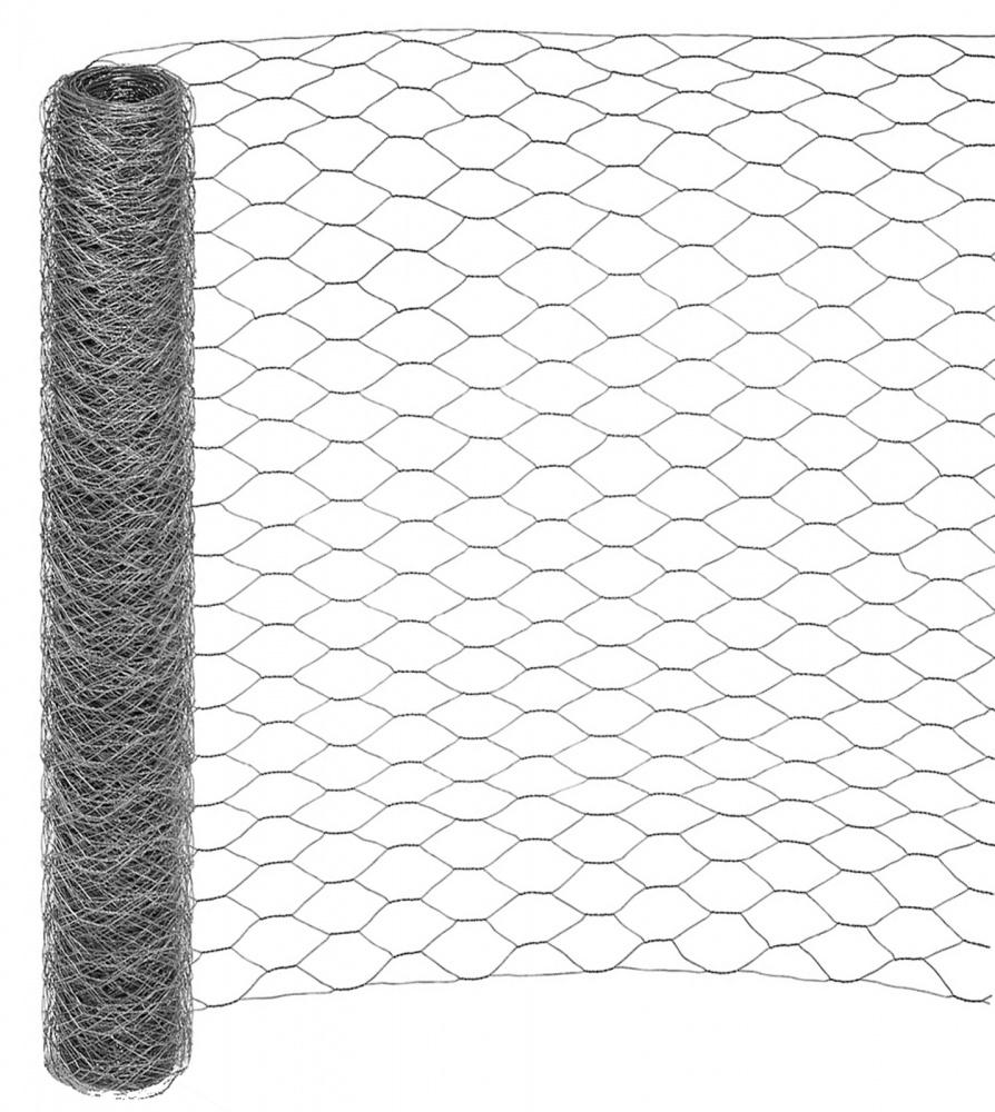 25m x 1 95m    165ft x 6 4ft galvanised chicken rabbit wire mesh roll woven metal